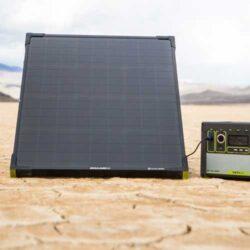 goal zero boulder 50 mountable solar panel charging a yeti